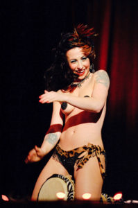 Headliner Angie Pontani of New York in her Bongo Routine  Photo: Ben Britt
