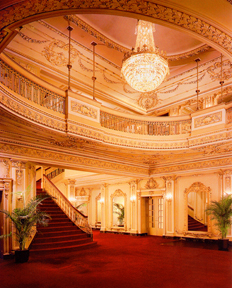 The lobby of the Majestic Theater