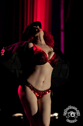 Blaze performs at Viva Dallas Burlesque. Photo: Mark Kaplan of Naked Lens