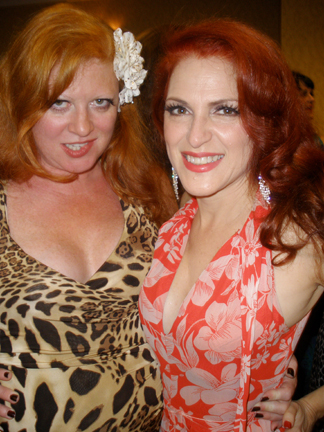 Kate Valentine (L) and Jo Weldon at Burly Con 2011.  Photo: Violet O' Hara