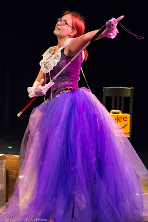 Elsa as Kaylee in Whedonesque Burlesque (Rehearsal photo by Jules Doyle)