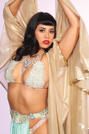 Coco Lectric. Photo: Shoshana of DallasPinUp.com. MUA/H: Ladonna Stein.