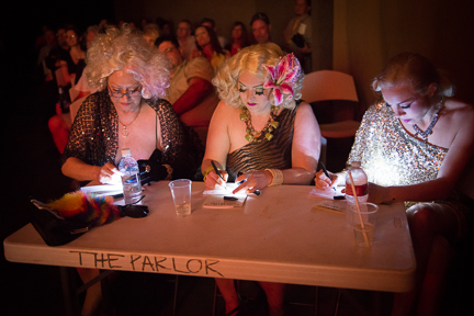 Camille 2000, Dirty Martini & Imogen Kelly at the Judges' Table (Photo: David Weaver)