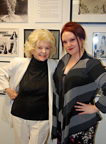 With Dixie Evans, 2011.